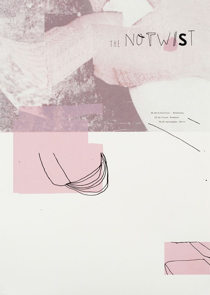 """""""Damien Tran's collaged gig posters are simple yet distinctive"""" - It's Nice That"""