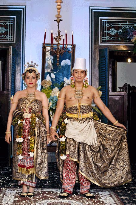 Indonesia royal wedding in Yogyakarta.