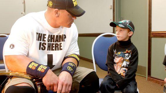 John Cena says hello to Isaiah. #WWE