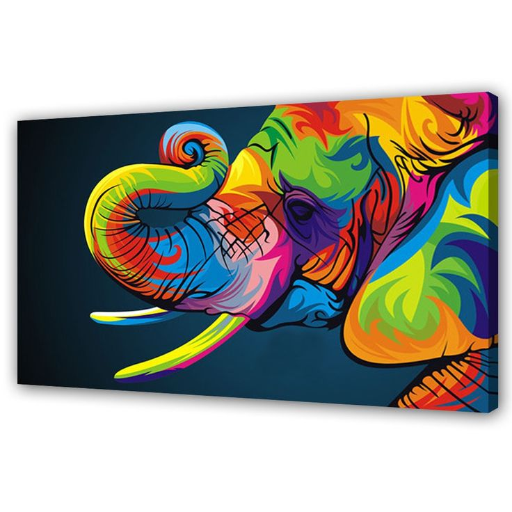 colourful elephant paintings - Google Search
