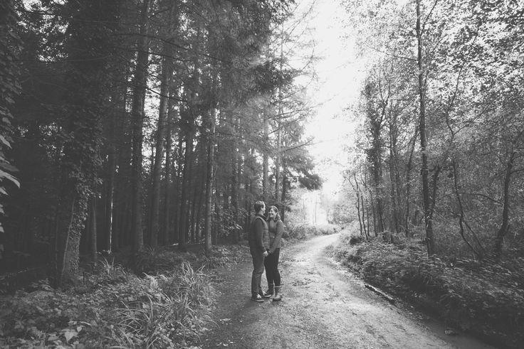 Engagement shoot at Shearwater Lake.  Charlotte & Will - Blog // Black and white photography // Matt Fox Photography // Warminster, Crockerton