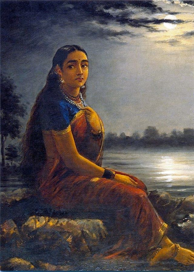 Raja Ravi Varma, Lady in the Moon Light (1889)