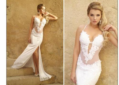 Свадебное платье открытое