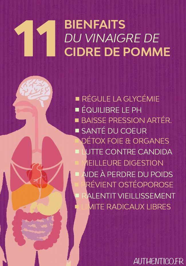 La science le prouve ! Le vinaigre de cidre de pomme n'est pas un des plus anciens remèdes pour rien. Découvrez l'étendue de ses bienfaits pour la détox du corps et le système immunitaire. Soignez-vous naturellement ! #remede
