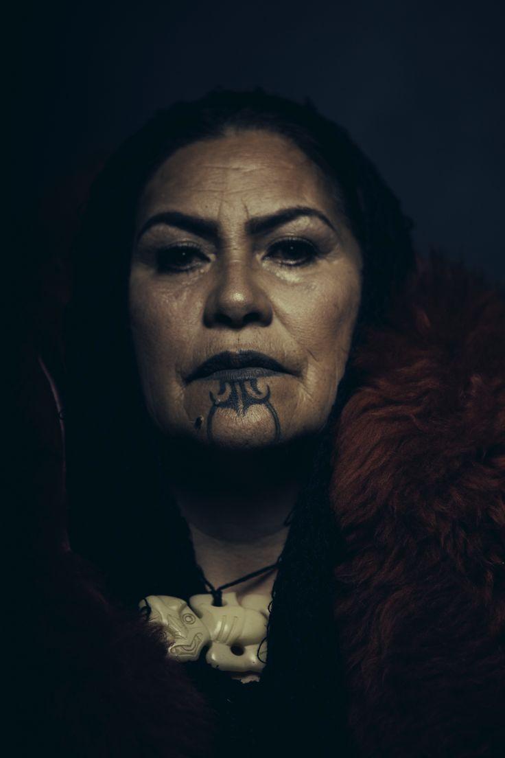 Female Ta Moko On Lips And Chin: Orine Gilles Maori Wahine Styled By Melaina Newport