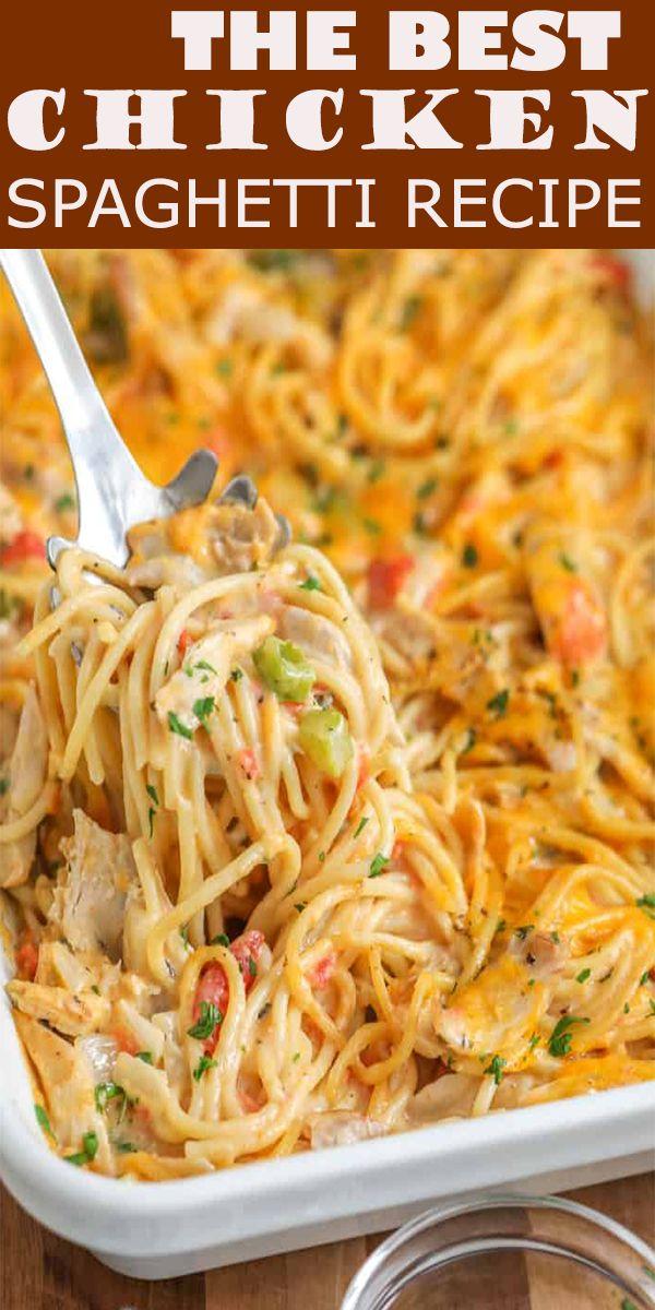The Best Chicken Spaghetti Recipe The Best Chicken Spaghetti Recipe Ingredients 1 In 2020 Best Chicken Spaghetti Recipe Chicken Spaghetti Recipes Spaghetti Recipes