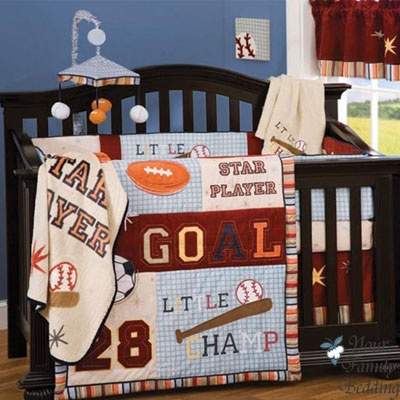 17 Best Images About Sports Theme Crib Bedding On