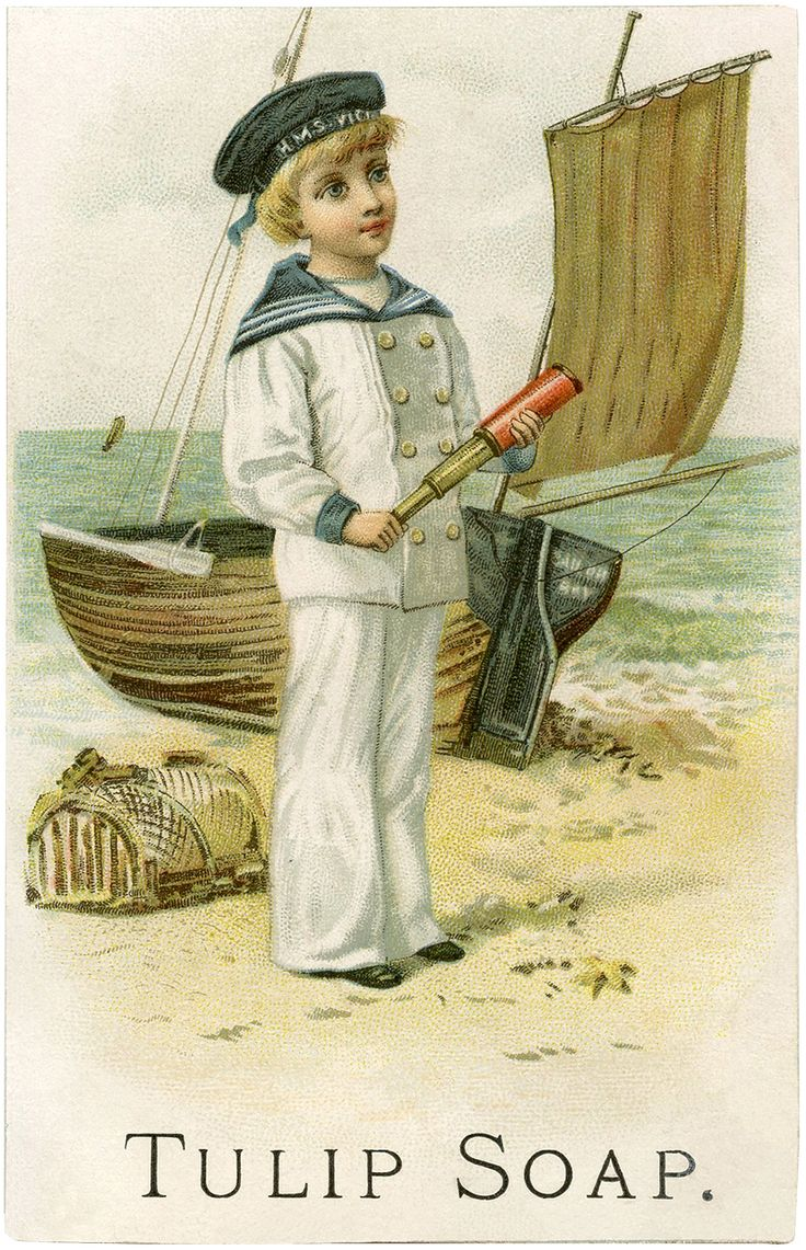 Cutest Vintage Sailor Boy Image! - The Graphics Fairy