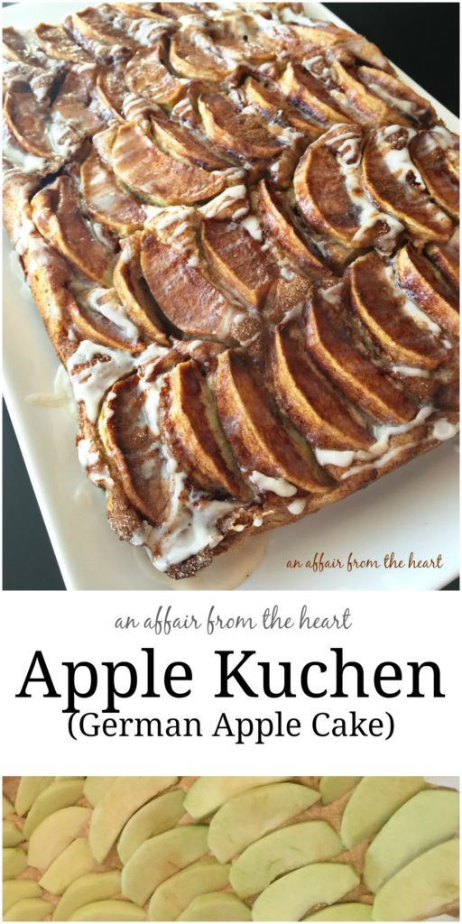 Apple kuchen with yeast dough