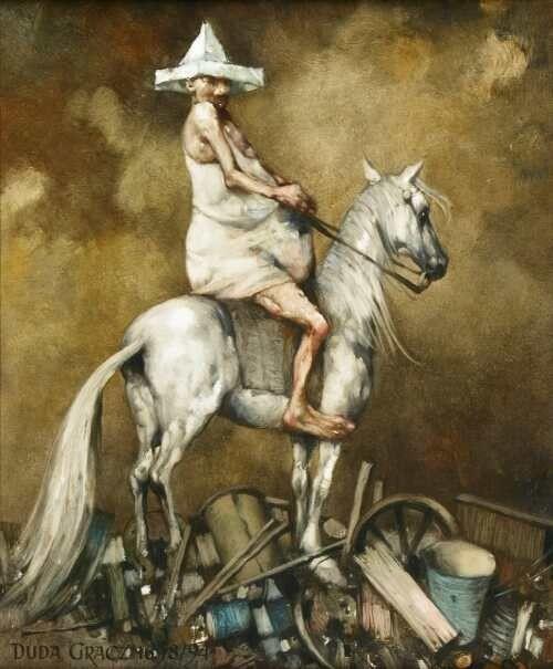 Jerzy Duda-Gracz' (20 March 1941 in Częstochowa - 5 November 2004 in Łagów) was a Polish painter.    He graduated from the Academy of Fine ...