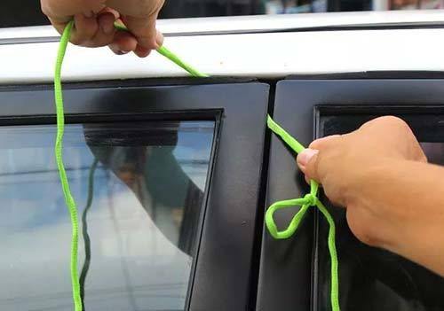 How to Retrieve Keys Locked Inside a Car – 4 Methods  http://www.iseeidoimake.com/how-to-retrieve-keys-locked-inside-a-car-4-methods/  The fourth method is genius and I will be trying that one next time, it also gives you a great place to hide a spare key too.
