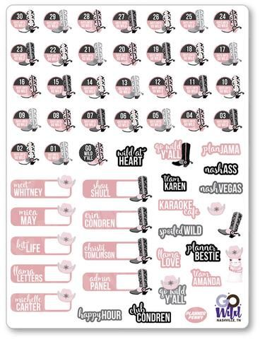 Custom planner stickers for use in popular planners like Erin Condren Life Planner, Happy Planner, Kikki K, Plum Paper, FiloFax, and more!