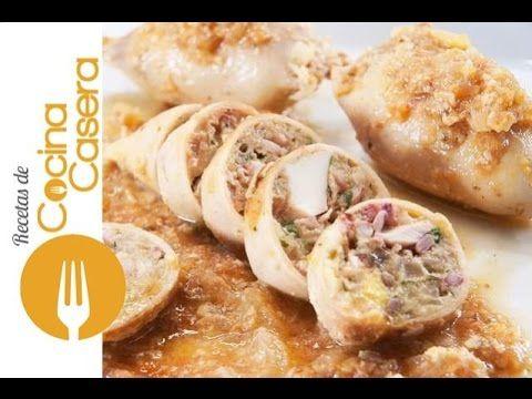 Calamares rellenos - Recetas de Cocina Casera - Recetas fáciles y sencillas