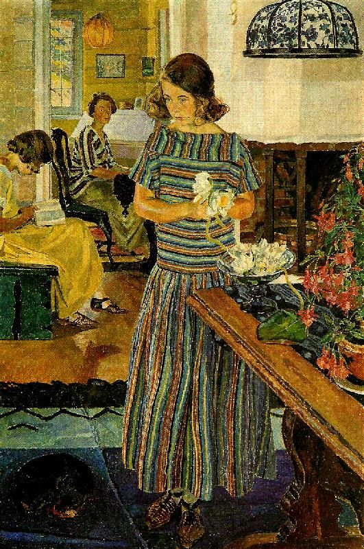 Carl Wilhelmson (1866-1928): Nackrosor, 1923