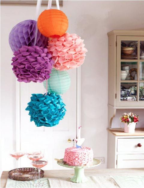 Tips for hosting a crafty diy party on pinterest for Chart paper decoration ideas