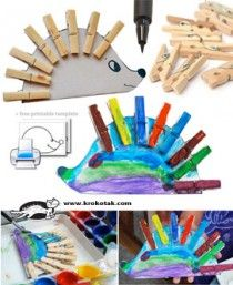 Clothespin- kids craft: krokotak blog, lots of simple projects