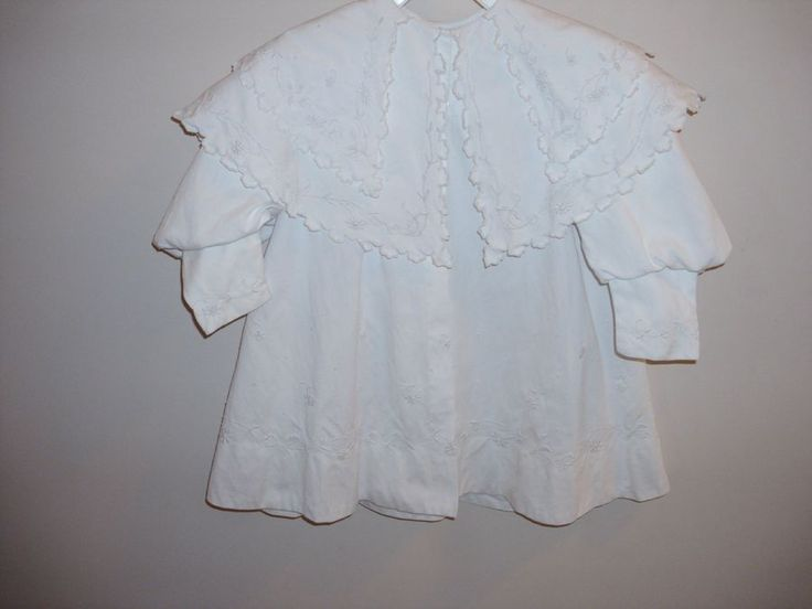 Outstanding Antique White Fancy Embroidered Baby/Doll Dress Coat EX COND