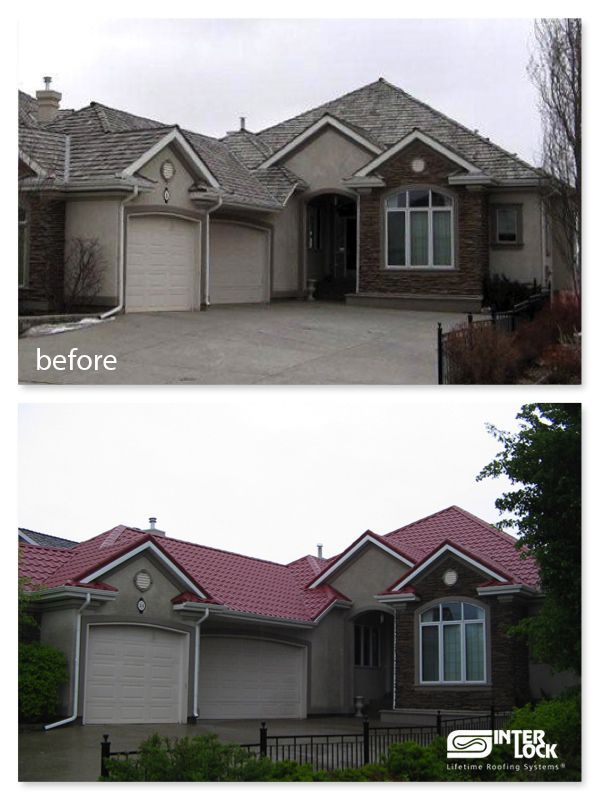 What A Difference Can A Roof Make To Your House Curb Appeal? Check This  Home Looked Before U0026 After The Interlock Red Tile    Www.interlockroofing.com ...