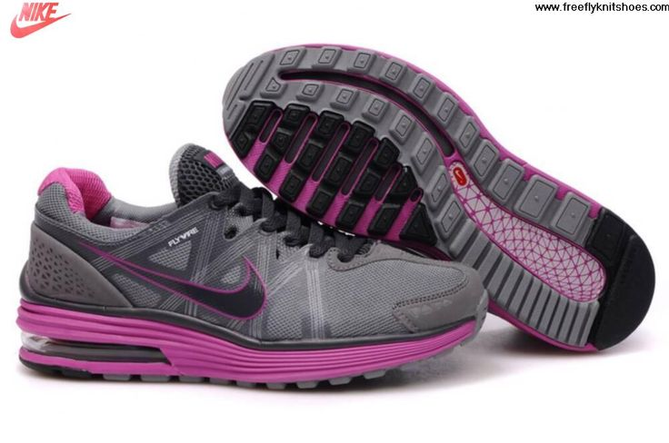 Buy Latest Listing Womens Nike LunarMax Gray Pink Shoes Lightweight Shoes