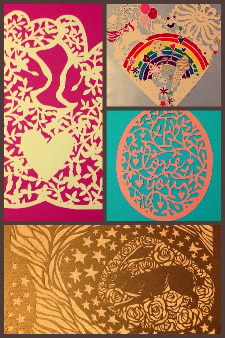 Papercuts I've made, templates by paper panda and Wildchild designs x