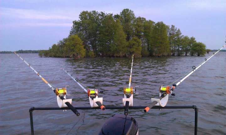 homemade rod holders for pontoon boats
