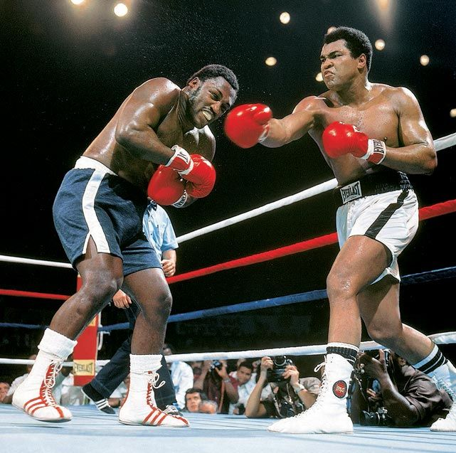 """The """"Thrilla in Manila""""- Ali/ Frazier 3- one of the best and most brutal fights I have ever seen."""