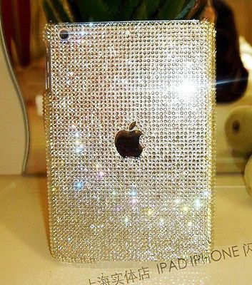 3D Handmade Bling sparkle diamond Resin crystal For Apple iPad MINI case cover
