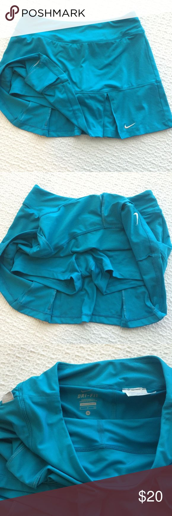 Nike Pleated Tennis Skirt with Shorts Worn once, in excellent condition!   { FYI, I'm not interested in trading at the moment, trying to make space in my closet :) Thanks! } Nike Skirts