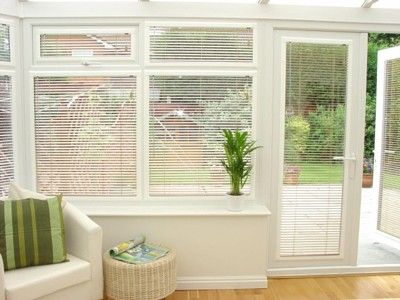 Made to measure conservatory blinds - Variety of blinds for any windows and for conservatories - venetian blinds , vertical blinds, roller blinds, pleated blinds or perfect fit blinds with no need to drill or screw in to UPVC frames from FunkyWunkyDooDahs Limited Inspired Interiors, 2 Gaol Mews, Gaol Road, Stafford, ST16 3AN. Tel 01785229306