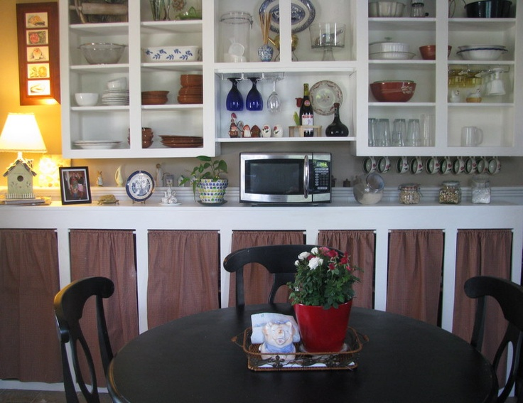 Made The Cabinet Curtains Found Unfinished Cabinets Free On Craigs List Green Kitchen