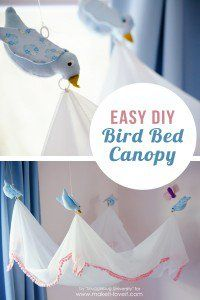 Easy DIY Bird Canopy For Your Bed