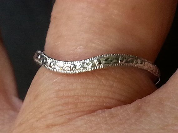 Antique Reproduction Wedding Band  Antique Style by Lifespirals