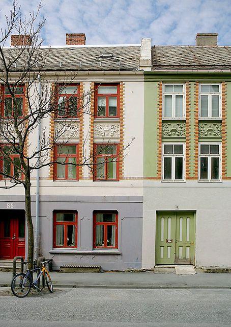 Jugend/Art Noveau Facade, Trondheim, Norway.  Photo: Helena Normark, via Flickr