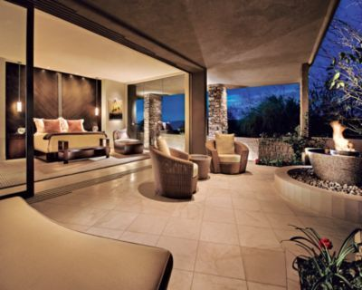 Master Bedroom Patio With Fire Fit