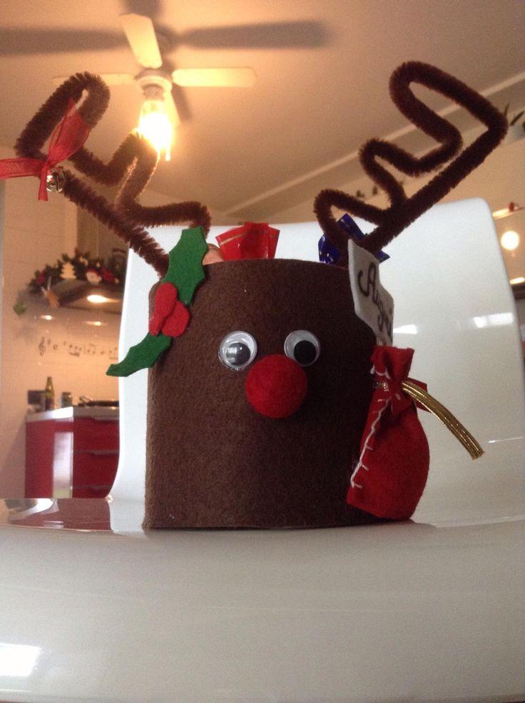 Porta cioccolatini renna