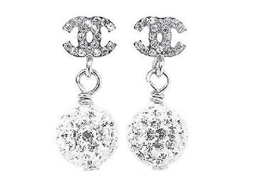 Chanel Earrings CC Logo Crystal Drop Dangling Ball Mini Silver Hardware Classic Timeless Box Bag 11P A44581. Get the lowest price on Chanel Earrings CC Logo Crystal Drop Dangling Ball Mini Silver Hardware Classic Timeless Box Bag 11P A44581 and other fabulous designer clothing and accessories! Shop Tradesy now