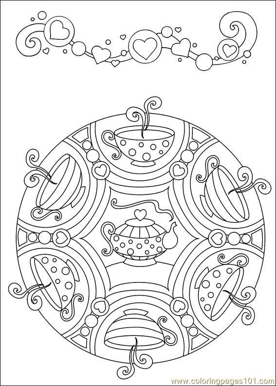 food coloring mandalas   Coloring Pages Mandalas 44 (Cartoons > Mandalas) - free printable ...