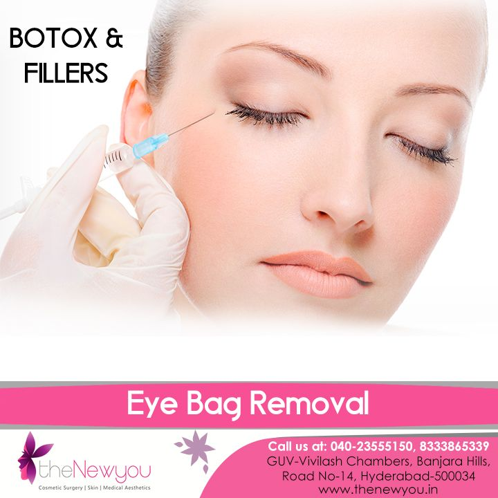 Now, get rid of that #exhausted and aged look permanently by removing the under #eyebags availing the #botox and fillers treatment from theNewyou.