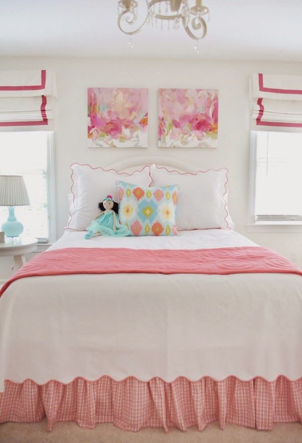 The Pink Pagoda: Christina Baker Paintings in a Girl's Room