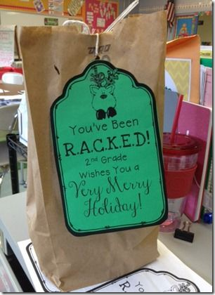 R.A.C.K.E.D-Random Acts of Christmas Kindness. this would great for the staff at Katelyn and Abbie's school for the holidays.