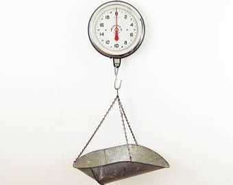 vintage scale,produce scale,antique scale,Philadelphia PA,hanging scale,industrial scale,grocery scale,kitchen scale,farmhouse antiques