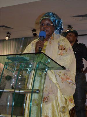Hajiya Zainab Maina, Minister of Women Affairs and Social Development delivers a Keynote Address