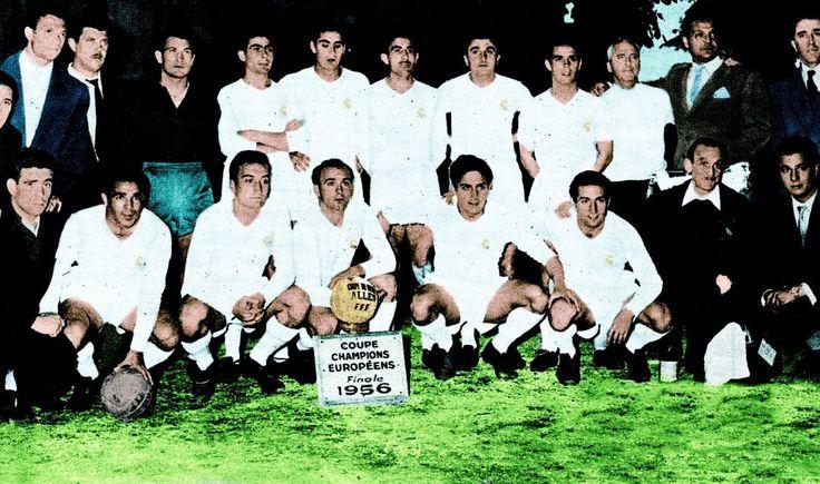 1956-El Real Madrid campeón de la primera copa de Europa.