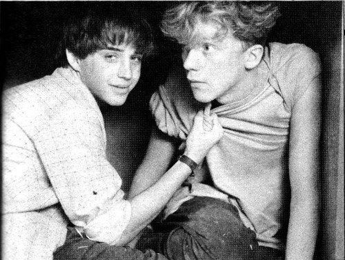 "Ilan Mitchell-Smith & Anthony Michael Hall in ""Weird Science."""