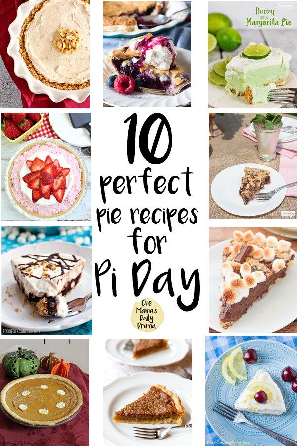 Pi Day (3.14) is March 14th! Celebrate the magic of circles with a delicious homemade pie. I've rounded up the ten gorgeous and simple recipes to treat yourself to some math fun. #piday #pieday