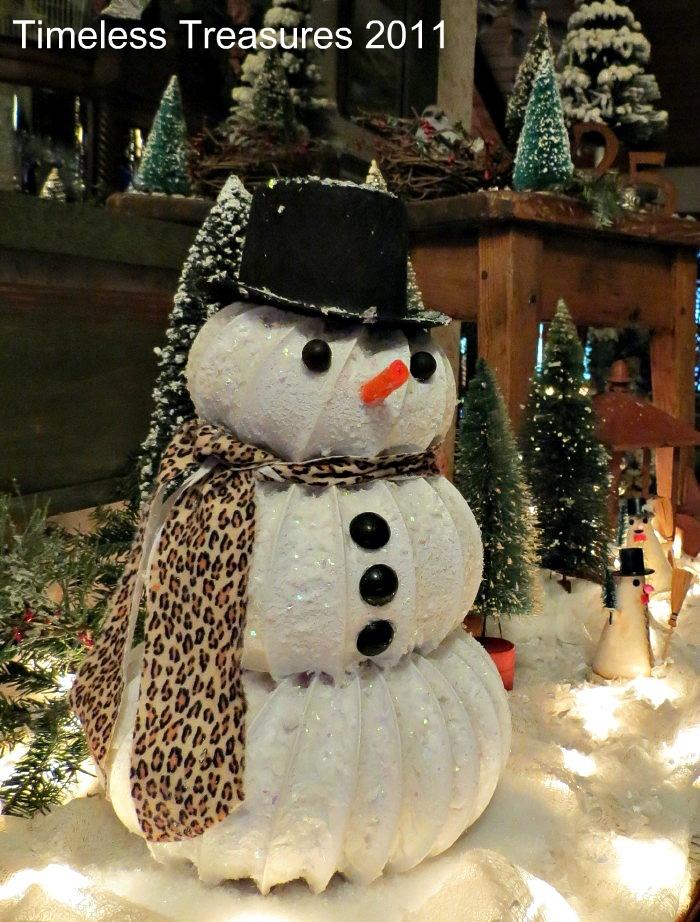 Dryer vent hose Snowy Snowman Tutorial