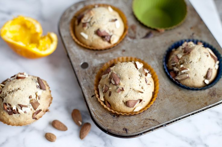 Muffins à l'orange et à la pulpe d'amande #vegan #almondmeal #almondpulp