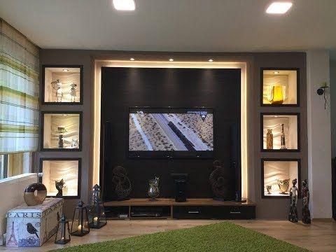TV Wand selber bauen, Wohnzimmer Living Room, TV W…