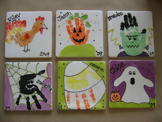 halloween hand prints