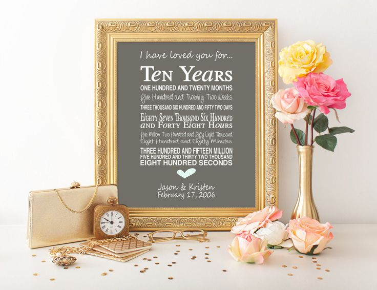 10th Wedding Anniversary Gift Ideas Uk : ideas about 10th Anniversary Gifts on Pinterest Wedding anniversary ...